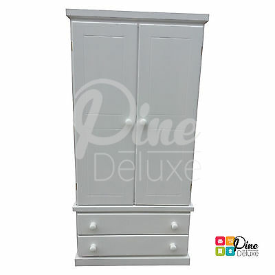 Hand Made Cambridge Gents Wardrobe White(Assembled)