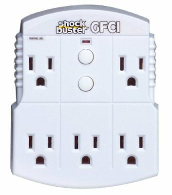 Tower 30339015 15 amp GFCI 5-Outlet Adapter Electrical Multi Outlets, New