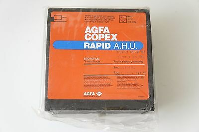1 x roll box  Agfa Copex Rapid A.H.U microfilm 35mm 100ft 30.5m expired 2004