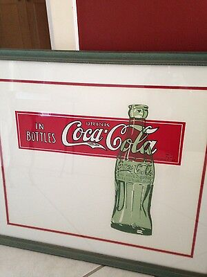 LOT of (2) - Vintage Original Coca Cola Early Posters