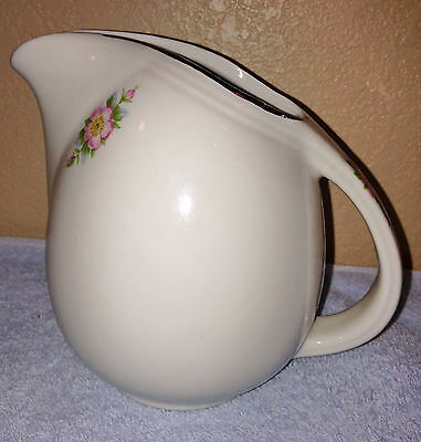 Rose White Sani-Grid Small Pitcher made by Hall China