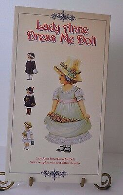 Reproduction of Lady Anne Dress-Me Doll 9 Piece Paper Doll Set from England Girl