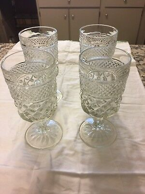 """Anchor Hocking Wexford 6-5/8"""" Tall Water Glasses SET OF 4"""