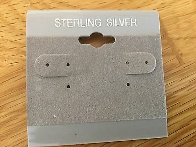 "100 gray Hanging Earring Cards For Revolving Rotating Displays 2"" X 2"""