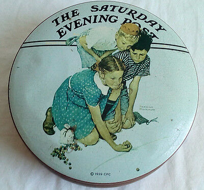 Norman Rockwell Collectible Marble Champion Tin The Saturday Evening Post