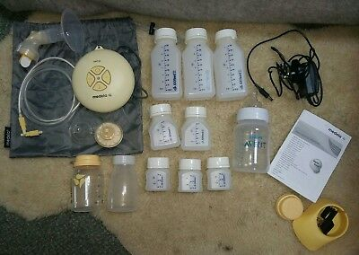 Medela Swing Breast Pump with Calma Teat and accessories
