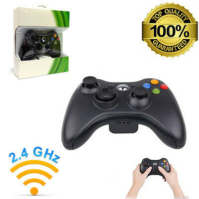 NEW BLACK Wireless Game Remote Controller for Microsoft Xbox 360 CONSLE