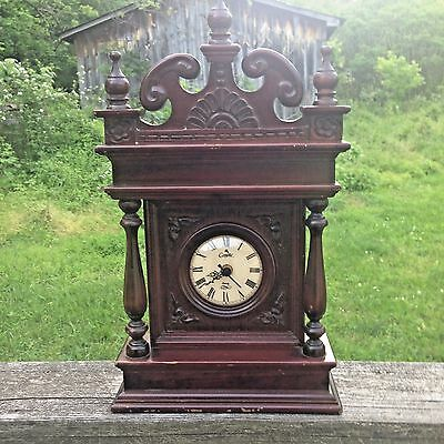 Vintage Camelot Handcrafted in Thailand Wood Clock-Quartz