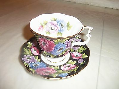 Royal Albert Bouquet Series Anemone; China Cup and Saucer
