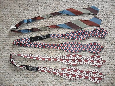 Vintage Bow Ties Lot of 3 Adjustable Size