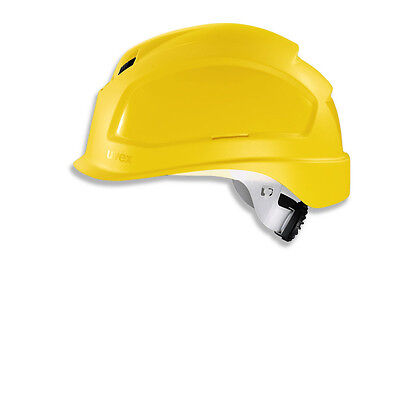 uvex pheos Safety Helmet. Comfortable Vented Hard Hat Yellow Size 51-61cm