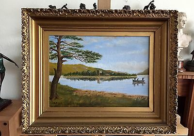 J MITCHELL 1907, LOCH LEVEN, signed oil painting on canvas in frame