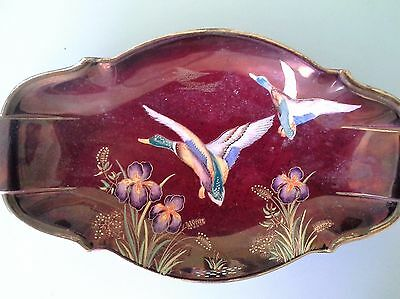 Carltonware Hand Painted And Enamelled Dish