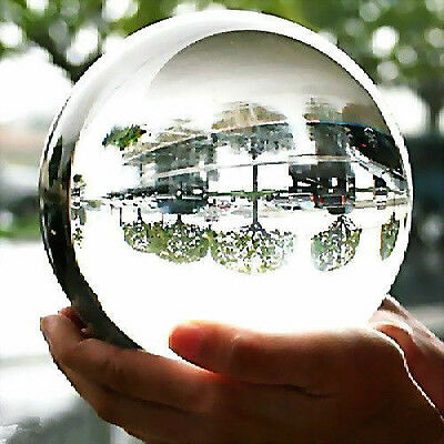 100Mm + Stand Huge Asian Quartz Clear Crystal Ball Sphere Hot