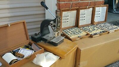 Vintage Kingsley Machine Co Embossing Machine letters and hot foil press