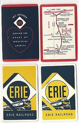 ERIE RAILROAD - 4     single vintage swap playing cards