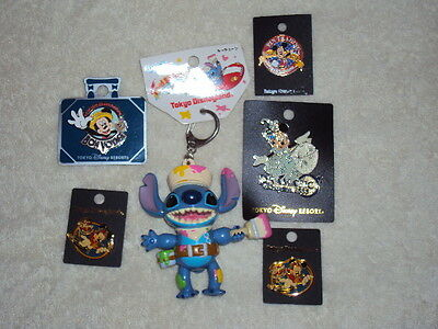 Lot Of Disney Tokyo Pinbacks And Keychains New!