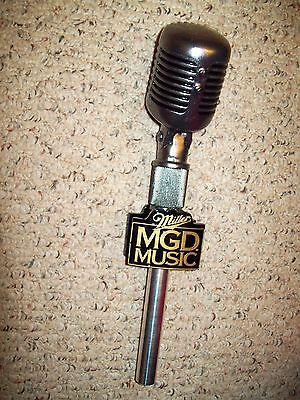 "Miller MGD Microphone Figural Tap Handle 12"" NMC Never Used"