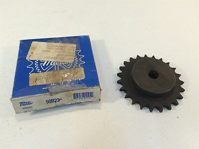 Martin 50B23 Sprocket Made in USA 50 Chain 23T Stock Bore