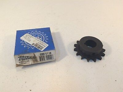 "Martin 50BS15 1 1/8 Sprocket Made in USA 50 Chain 15T 0.625"" Pitch 1.125"" Bore"
