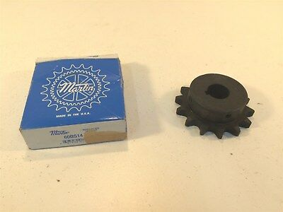 "Martin 60BS14 1 Sprocket Made in USA 60 Chain 14T  0.75"" Pitch 1"" Bore"