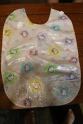 ABDL Adult Baby Hello Kitty PVC Bib
