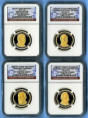 2012 S Presidential Dollar Proof Set NGC PF70 Ultra Cameo 4 Coins