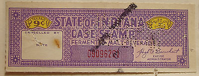 1941 Indiana Malt Beverage Tax Stamp.  IN B11a?  Used