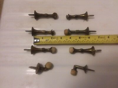 Lot of 8 Vintage Brass Door Stops