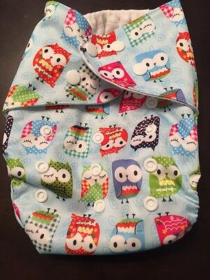 Owls Cloth Diaper Baby Cloth Pocket Diaper With Microfiber Insert Owls Pattern