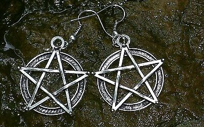 Haunted Doll Story w/ High Priestess Wiccan Witch Earrings, Pendant, Jewelry