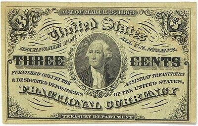Us Three Cent Fractional Currency Third Issue 1864