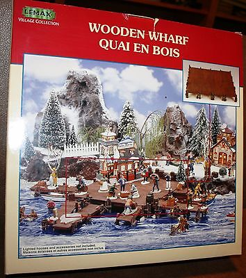 Lemax Village Collection WOODEN WHARF Dept 56, Christmas Villages