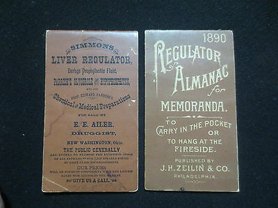 Simmons Liver Regulator Notebooks 1884 & 1890 Bottle Collecting Patent Medicines