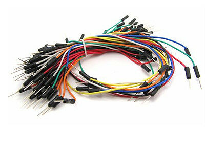Male-male jumper wires - 65 pcs/pack - Mix of lengths and colors in each pack