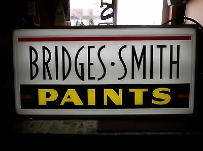 Vintage 1970's Bridges Smith Paints Louisville Kentuck Double Sided Lighted Sign