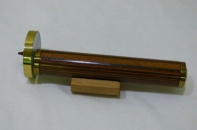 Vintage Van Cort Instruments Rosewood and Brass Kaleidoscope with Stand