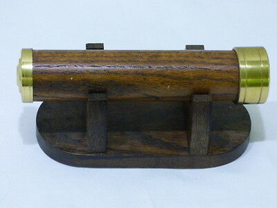 Vintage Brass and Wood Body Kaleidoscope with Stand