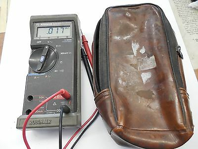 Robinair Voltmeter Multimeter 14980 w/ leads & Case Stand