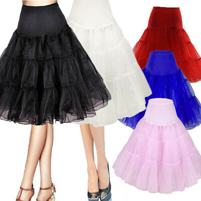 "US 32"" Short Vintage Petticoat Crinoline Underskirt Wedding Party Skirt Slips"