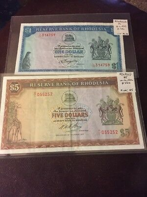 World Banknotes Rhodesia Lot Of 2 #811