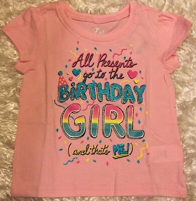 NWT PINK Birthday Girl Sparkle Party T SHIRT CHILDRENS PLACE SIZE