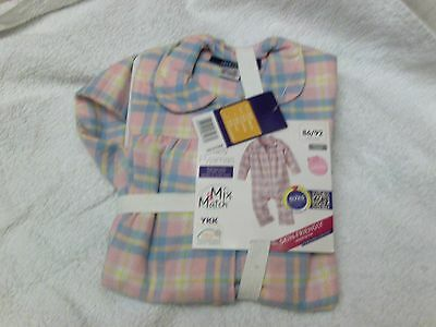 new baby pyjamas 12 - 24 months pink cotton  lupilu