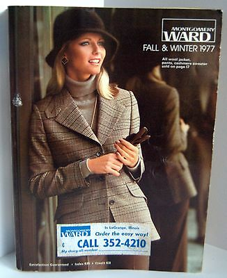 VTG Montgomery Ward Catalog Fall & Winter 1977 Cheryl Tiegs Womens Mens Clothing