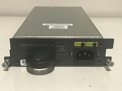 Cisco C3K-PWR-265WAC Power Supply for 3750-E 3560-E Series 6MthWty TaxInv
