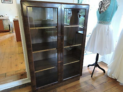 Antique Art Deco Bookcase Display Cabinet
