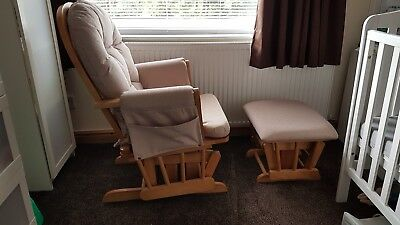 Babylo Glider Chair and Foot Stool