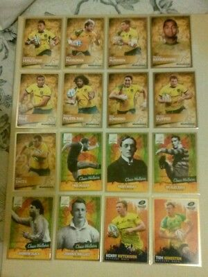 2016 Tap N Play Rugby Union Lot Of 25 Cards