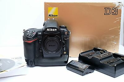 Nikon D3 Digital SLR Camera Body, boxed with two batteries and Charger