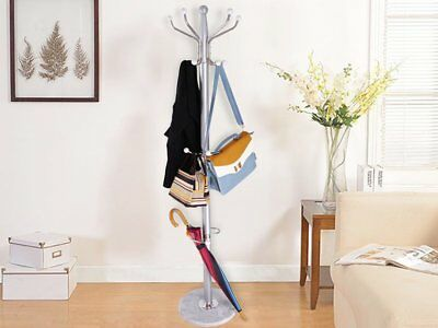 Matal Coat Stand Rack Clothes Hanger Hat Tree Vintage Jacket Bag Umbrella Hook